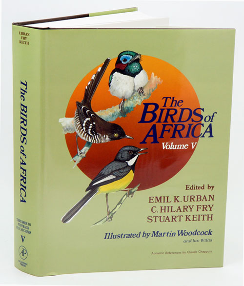 The birds of Africa, volume five: Thrushes to puffback flycatchers. Leslie H. Brown, Emil K. Urban.