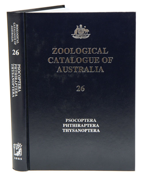 Zoological Catalogue of Australia, volume 26: Psocoptera, Phthiraptera, Thysanoptera. A. Wells.