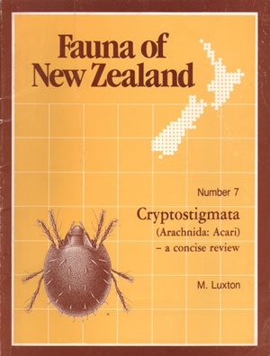 Fauna of New Zealand Number 7: Cryptostigmata (Arachnida: Acari) - a concise review. M. Luxton.