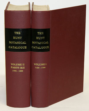 Catalogue of botanical books in the Collection of Rachel McMasters Miller Hunt. Jane Quinby.