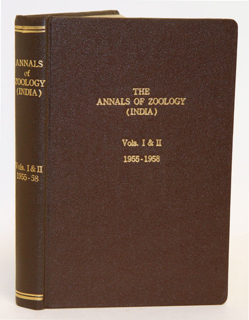 The Annals of Zoology, Volumes 1 (1-8) and 2 (1-11). B. C. Mahendra.
