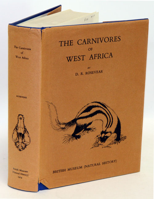 The carnivores of West Africa. D. R. Rosevear.