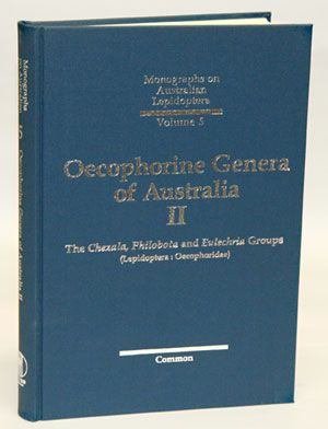 Oecophorinae genera of Australia, [volume] two. The Chezala, Philobota and Eulechria groups (Lepidoptera: Oecopheridae). Ian F. B. Common.