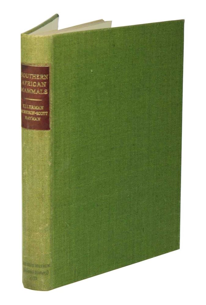 Southern African mammals 1758 to 1951: a reclassification. J. R. Ellerman.