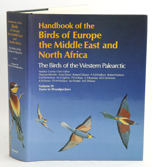 Handbook of the birds of Europe, the Middle East and North Africa. The birds of the Western Palearctic [BWP], volume four: Terns to woodpeckers. Stanley Cramp.