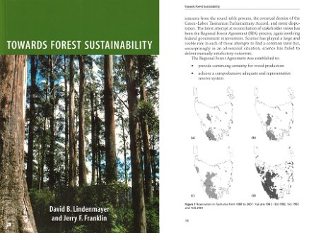 Towards forest sustainability. David Lindenmayer, Jerry Franklin.