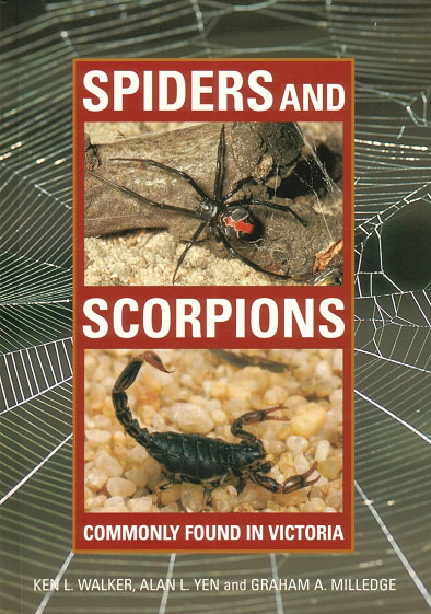 Spiders and scorpions commonly found in Victoria. Ken Walker.