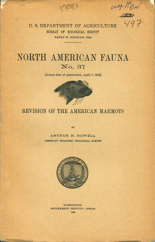 Revision of the American marmots. Arthur H. Howell.