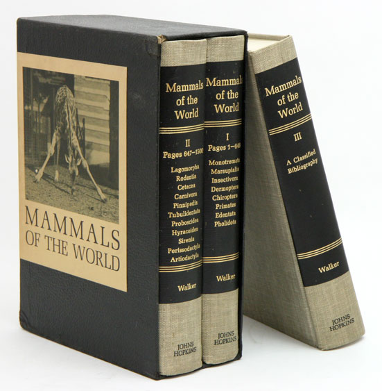 Mammals of the World. Ernest P. Walker.