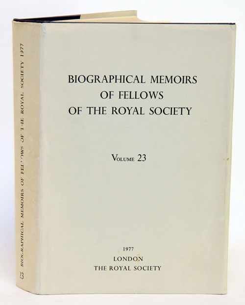 Biographical Memoirs of Fellows of The Royal Society, volume 23. The Royal Society.