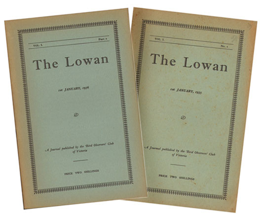 The Lowan, parts one and two [all published]. R. S. Miller.