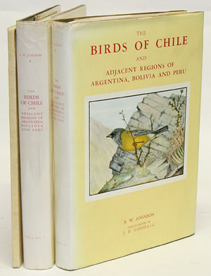 The birds of Chile and adjacent regions of Argentina, Bolivia and Peru [with paperback supplement]. A. W. Johnson, J. D. Goodall.