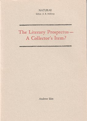 The literary prospectus- a collector's item? A. R. McEvey.