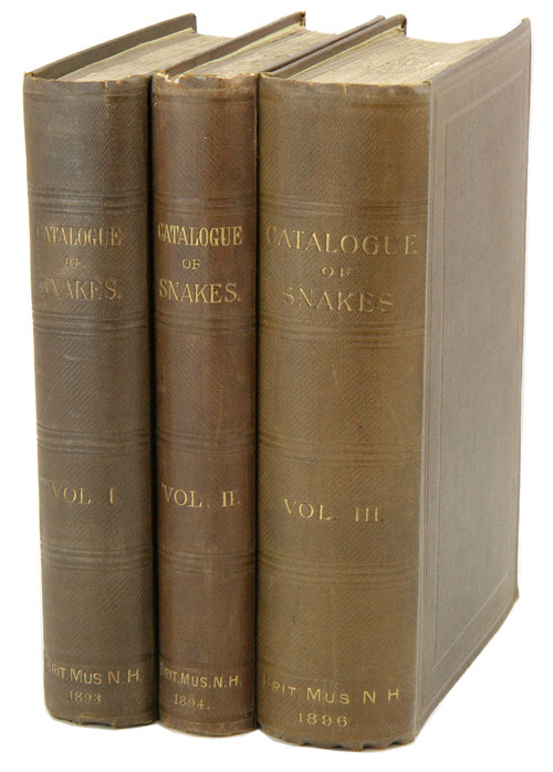 Catalogue of the snakes in the British Museum (Natural History). George Albert Boulenger.