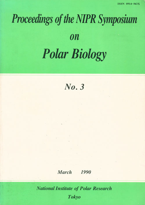 Proceedings of the NIPR Symposium on Polar Biology. Takao Hoshiai.