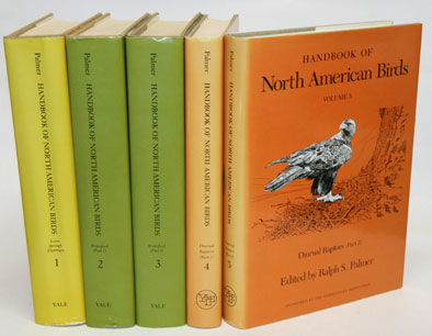 Handbook of North American birds, volumes one to five. Ralph S. Palmer.