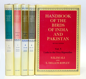 Handbook of the birds of India and Pakistan: together with those of Bangladesh, Nepal, Sikkim, Bhutan and Sri Lanka. First six volumes. Salim Ali, S. Dillon Ripley.