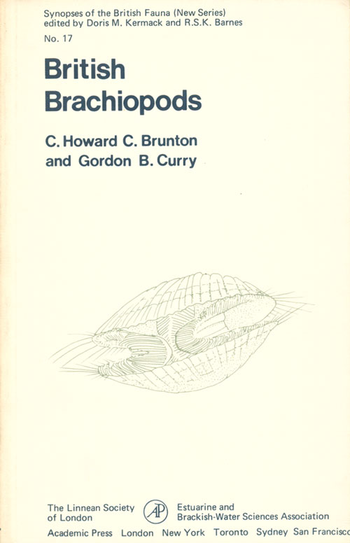British brachiopods. C. Howard C. Brunton, Gordon B. Curry.