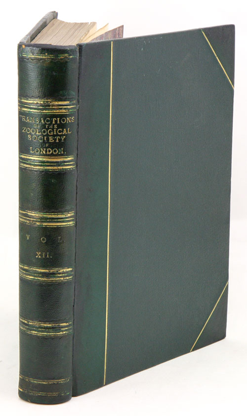 Transactions of the Zoological Society of London, volume twelve.