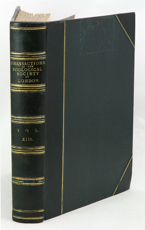 Transactions of the Zoological Society of London, volume 13.