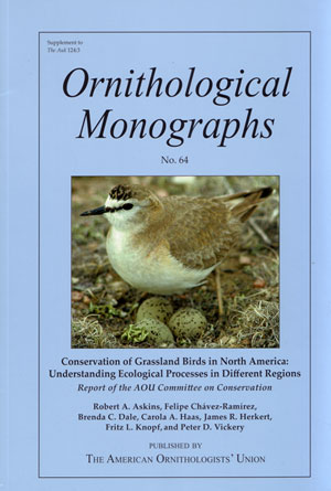 Conservation of grassland birds in North America: understanding ecological processes in different regions. Robert A. Askins.