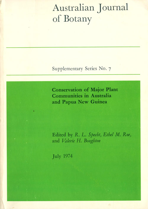 Conservation of major plant communities in Australia and Papua New Guinea. R. L. Specht.