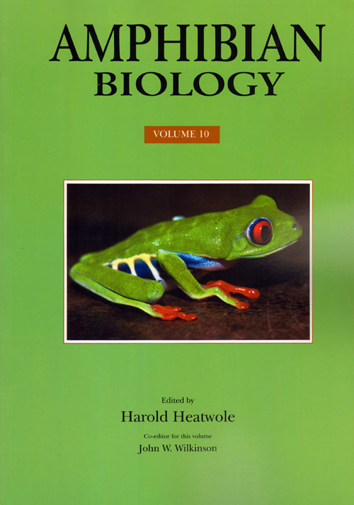 Amphibian biology, volume ten: conservation and decline of amphibians: ecological aspects, effect of humans and management. Harold Heatwole.