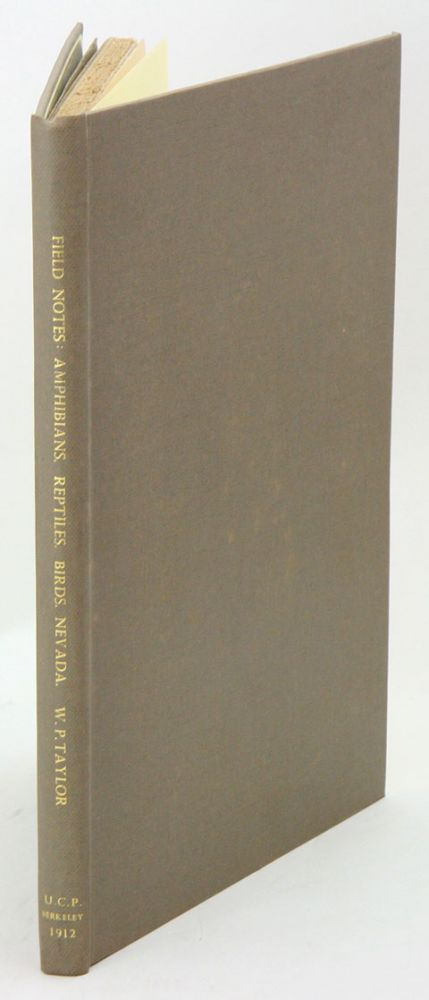 Field notes on amphibians, reptiles and birds of northern Humboldt county, Nevada. Walter P. Taylor.