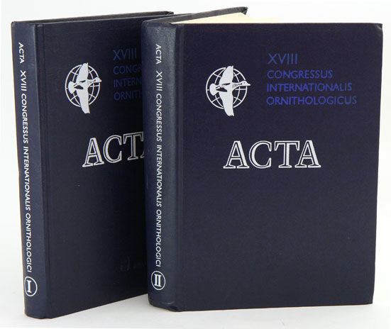 Acta [eighteenth] Congressus Internationalis Ornithologici: Moscow, August 16-24, 1982. Ilychiev, V. M. Gavrilov.