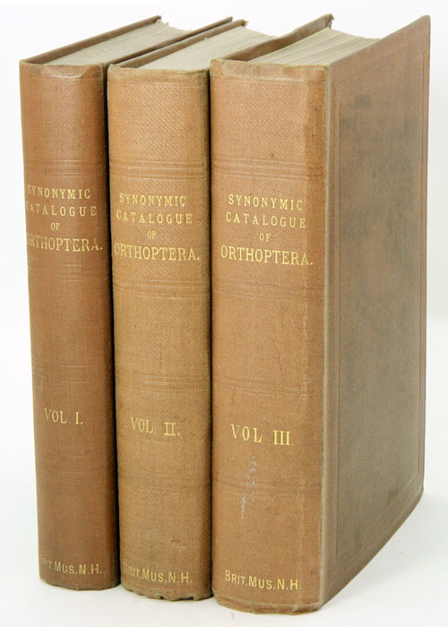 A synonymic catalogue of Orthoptera [all published]. W. F. Kirby.