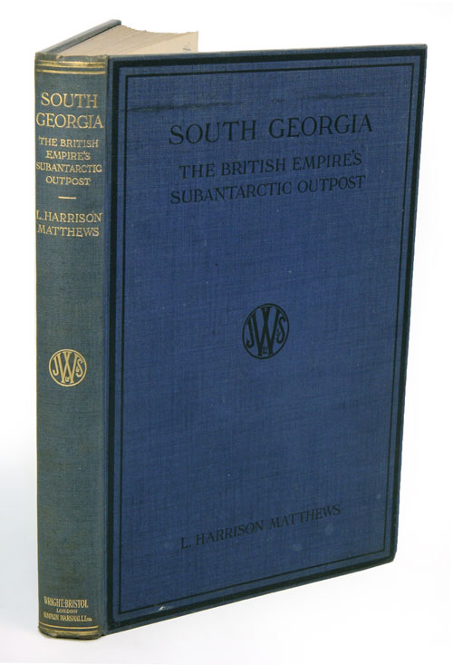 South Georgia, the British Empire's subantarctic post: a synopsis of the history of the island. L. Harrison Matthews.