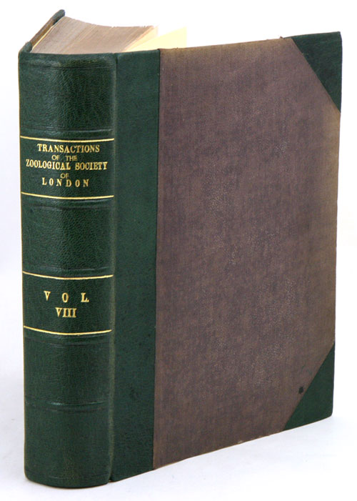 Transactions of the Zoological Society of London, volume eight.