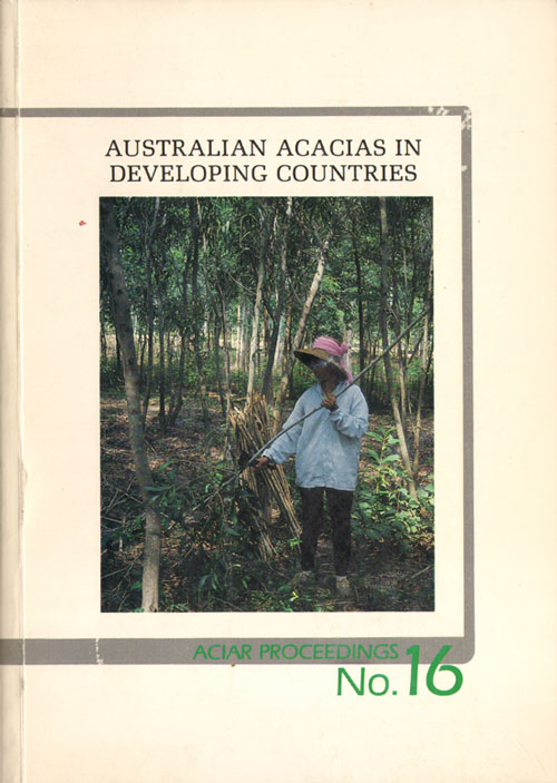 Australian acacias in developing countries. Proceedings of an international workshop held at the Forestry Training Centre, Gympie, Qld., Australia, 4-7 August 1986. John W. Turnbull.