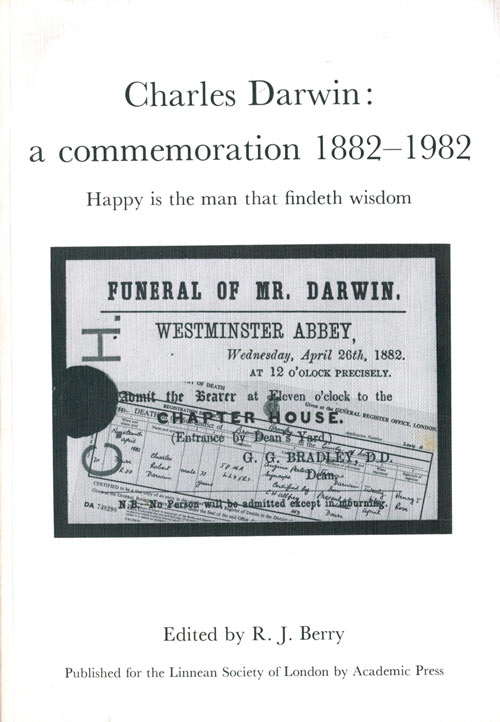 Charles Darwin: a commeration 1882-1982. R. J. Berry.