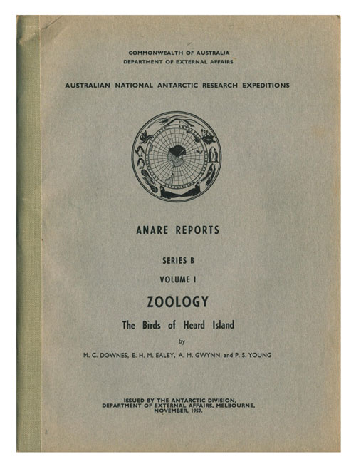 Zoology: the birds of Heard island. M. C. Downes.