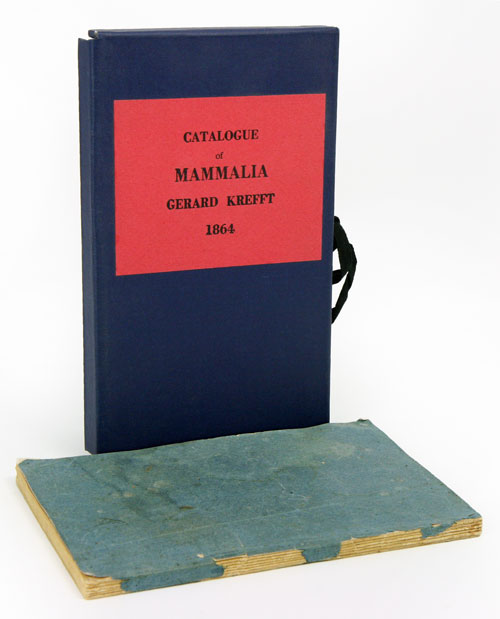 Catalogue of mammalia in the collection of the Australian Museum. Gerard Krefft.