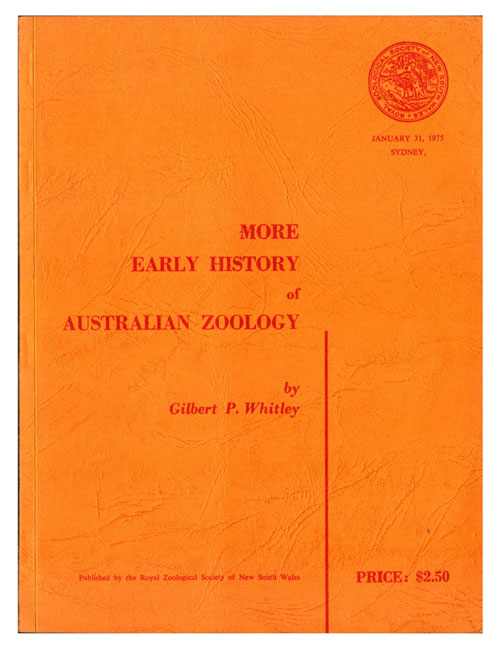 More early history of Australian zoology. Gilbert P. Whitley.