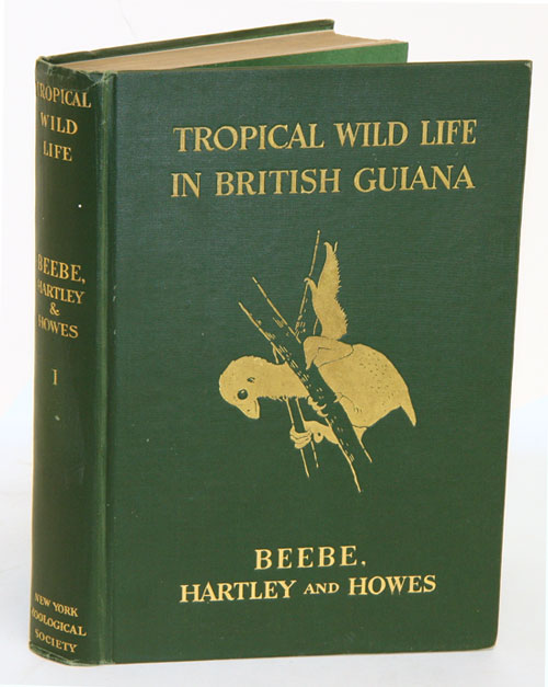 Tropical wild life in British Guiana: Zoological contributions from The Tropical Research Station of the New York Zoological Society, volume one [all published]. William Beebe.