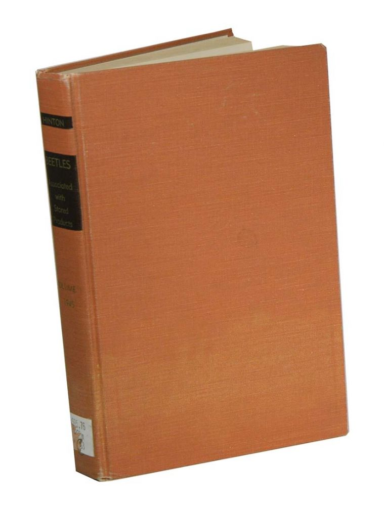 A monograph of the beetles associated with stored products, volume one. H. E. Hinton.