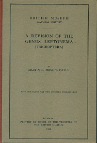 A revision of the genus Leptonema (Trichoptera). Martin E. Mosely.