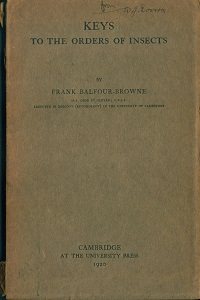 Keys to the orders of insects. Frank Balfour-Browne.