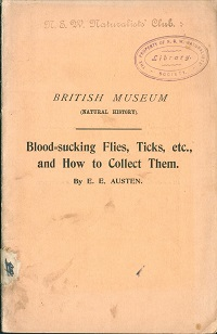 Blood-sucking flies, ticks, etc., and how to collect them. E. E. Austen.