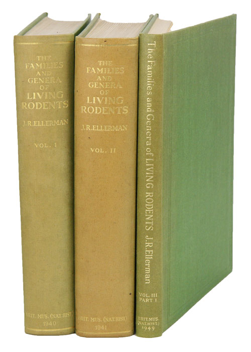 The families and genera of living rodents. With a list of named forms (1758-1936) by R. W. Hayman and G. W. C. Holt. J. R. Ellerman.