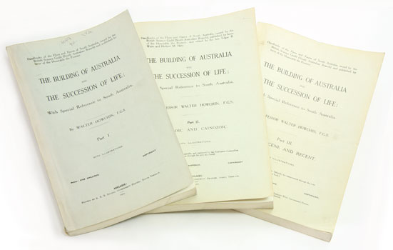 The building of Australia and the succession of life: with special reference to South Australia. Walter Howchin.