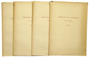 Orchids of Australia, drawn in natural colour by W. H. Nicholls with descriptive text, four parts [all published]. W. H. Nicholls.