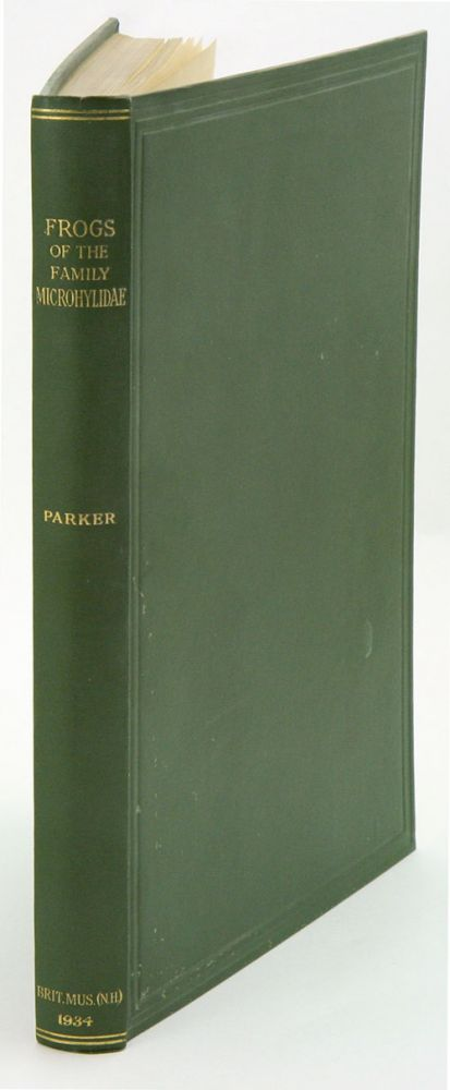 A monograph of the frogs of the family Microhylidae. H. W. Parker.