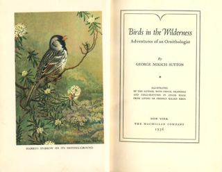 Birds in the wilderness: adventures of an ornithologist.