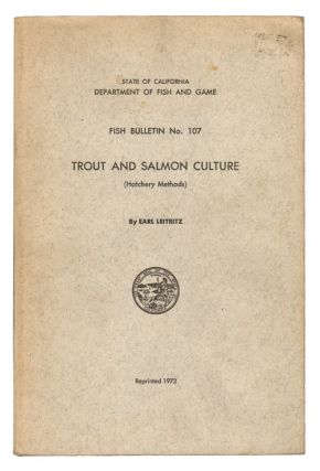 Trout and salmon culture (hatchery methods). Earl Leitritz