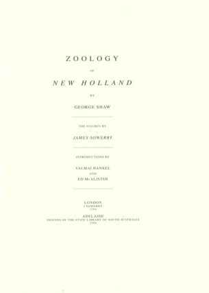 Zoology of New Holland.