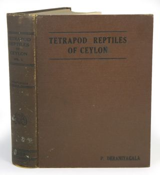 The tetrapod reptiles of Ceylon, volume one: Testudinates and Crocodilians [all published]. P. E....